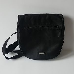 Eddie Bauer unisex black travel cross body bag